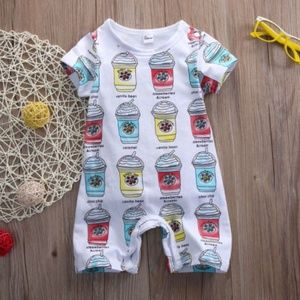 """Other - Boutique baby romper """"frappe shorty"""" 12 mo."""